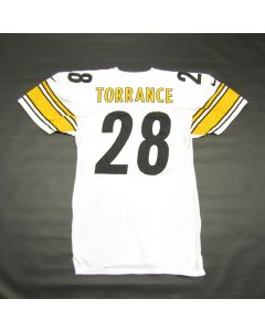 Pittsburgh Steelers #28 Homer Torrance 1999 Team Issued Away Jersey