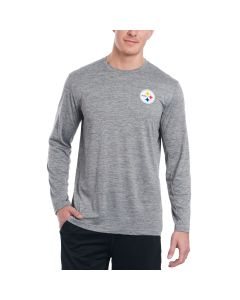 Pittsburgh Steelers Nike Coaches Long Sleeve Light Heather Grey Top