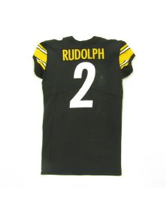 Pittsburgh Steelers 12.1.2019 Game-Used #2 Mason Rudolph Home Jersey