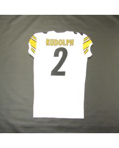 Pittsburgh Steelers #2 Mason Rudolph Team Issued Away Jersey