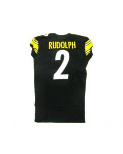 Pittsburgh Steelers #2 Mason Rudolph Team Issued Home Jersey