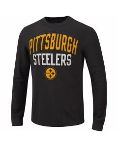 Pittsburgh Steelers Ringer Long Sleeve T-Shirt - Extended Sizing