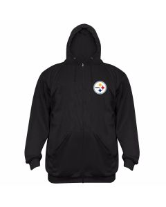 Pittsburgh Steelers Poly-Fleece Full Zip Hoodie - Extended Sizing