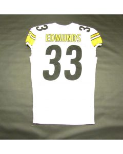 Pittsburgh Steelers #33 Trey Edmunds Game Used Away Uniform Set