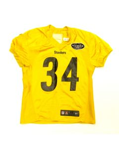 Pittsburgh Steelers #34 Terrell Edmunds 2018 Used Practice Jersey