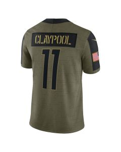 Chase Claypool #11 Nike Men's Limited Salute to Service Jersey