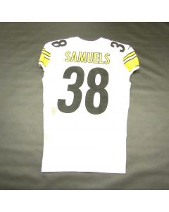 Pittsburgh Steelers #38 Jaylen Samuels Game Used Away Uniform Set