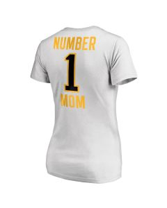 Pittsburgh Steelers Women's #1 Mom V-Neck Short Sleeve T-Shirt