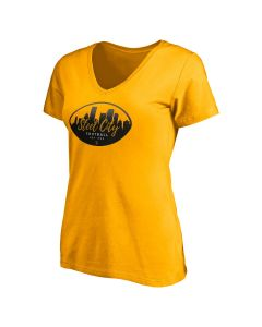 Pittsburgh Steelers Women's Cityscape Football Short Sleeve T-Shirt
