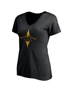 Pittsburgh Steelers Women's Hypocycloid Cityscape Short Sleeve T-Shirt