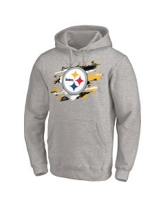 Pittsburgh Steelers True Colors Grey Hoodie