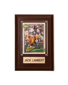 Pittsburgh Steelers #58 Jack Lambert 4x6 Plaque