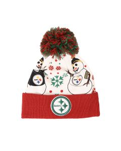 Pittsburgh Steelers New Era Snowmen Knit Hat