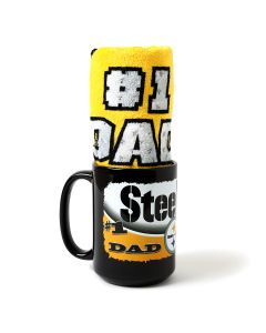 Pittsburgh Steelers #1 Dad Mug and Terrible Towel Combo