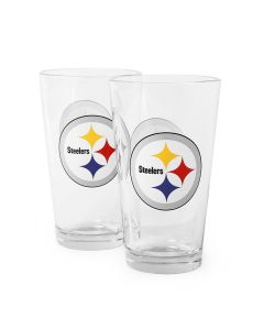 Pittsburgh Steelers 16oz. Pint Glass 2 Pack
