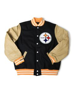 Pittsburgh Steelers Mitchell & Ness Wool/Leather Varsity Jacket