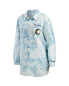 Pittsburgh Steelers Women's Washed Chambray Button Down Shirt