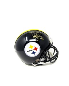 Pittsburgh Steelers #43 Troy Polamalu Autographed Riddell Proline Authentic Full-Size Helmet With Inscription