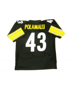 Pittsburgh Steelers #43 Troy Polamalu Autographed Mitchell & Ness Limited Jersey with Inscription