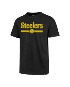 Pittsburgh Steelers '47 Wordmark & Team Stripe Short Sleeve T-Shirt