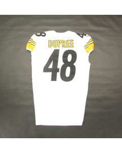 Pittsburgh Steelers #48 Bud Dupree 2020 Game Used Away Jersey