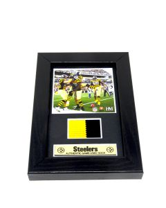 Pittsburgh Steelers 5x7 Plaque with Game Used Sock