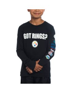 Pittsburgh Steelers Boys Got Rings Long Sleeve T-Shirt
