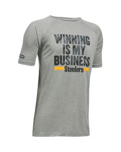 Pittsburgh Steelers Under Armour NFL Combine Boys Short Sleeve Winning Is My Business T-Shirt