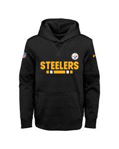 Pittsburgh Steelers Boy's Pull Over Therma Hoodie