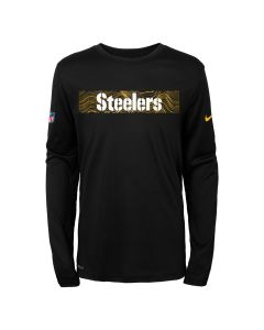Pittsburgh Steelers Boys' Nike Seismic Long Sleeve T-Shirt