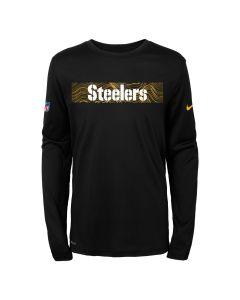 Pittsburgh Steelers Boys' Nike Seismic Long Sleeve T-Shirt
