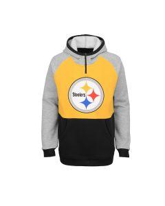 Pittsburgh Steelers Boys' D-Line Regulator 1/4 Zip Hoodie