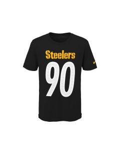 Pittsburgh Steelers Youth #90 TJ Watt Jersey T-Shirt