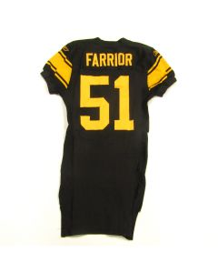 Pittsburgh Steelers #51 James Farrior 2007 Team Issued Throwback Jersey