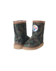 Pittsburgh Steelers Cuce Toddler Girls Defeater Camo Boot