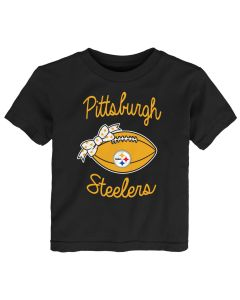 Pittsburgh Steelers Toddler Girls' Super Bow Hearts Short Sleeve T-Shirt