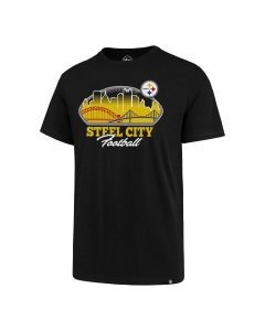 Pittsburgh Steelers '47 City Scape Super Rival Short Sleeve T-Shirt