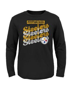 Pittsburgh Steelers Girls Watermark Long Sleeve T-Shirt