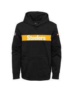 Pittsburgh Steelers Nike Little Boys' Therma Seismic Hoodie