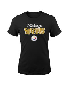 Pittsburgh Steelers Little Girls Glitter Formation Short Sleeve T-Shirt