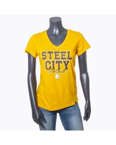 Pittsburgh Steelers Women's '47 Steel City Football Short Sleeve T-Shirt