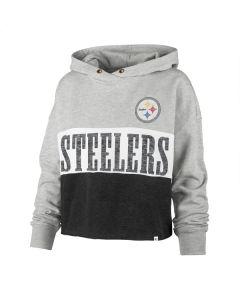 Pittsburgh Steelers Women's '47 Lizzy Cropped Hoodie