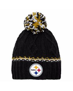 Pittsburgh Steelers Girls Cuffless Ribbed Knit Hat