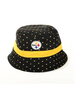 Pittsburgh Steelers New Era Girl's Dotted Bucket Hat