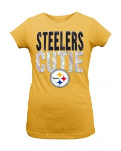 Pittsburgh Steelers Girl's New Era Cutie Short Sleeve T-Shirt