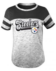 Pittsburgh Steelers Exclusive Girls' Space Dye Short Sleeve T-Shirt