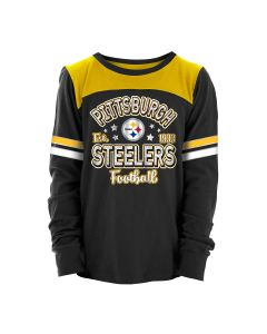 Pittsburgh Steelers Girls' Exclusive Slub Long Sleeve T-Shirt