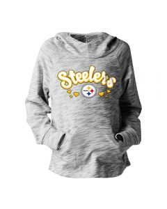 Pittsburgh Steelers Girls' Exclusive Space Dye Pull Over Hoodie