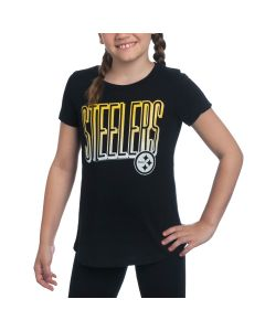 Pittsburgh Steelers Girls Game Time Short Sleeve T-Shirt