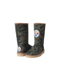 Pittsburgh Steelers Cuce Youth Defeater Camo Boot